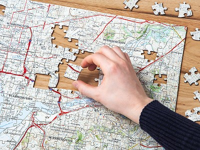 Butler and Hill: Custom Hometown Map Puzzle