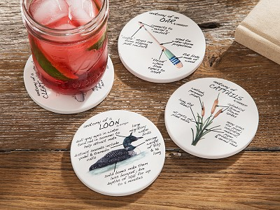Dishique: Anatomy Coaster Set, Lifestyle