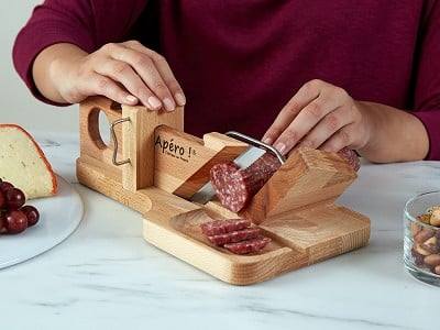 So Apéro: Handcrafted Sausage & Cheese Slicer