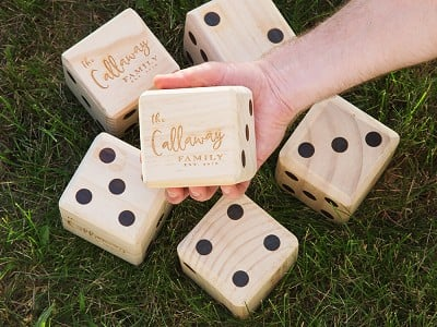 Yard Games: Personalized Giant Wooden Yard Dice