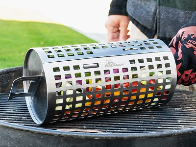 BBQ Dragon: Stainless Steel Rolling Grill Basket