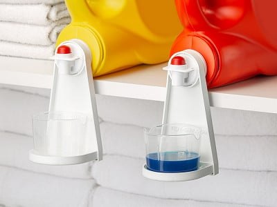 Tidy-Cup: Detergent Cup Holder - Set of 2