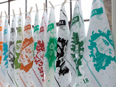 Vestiges: State Tea Towels