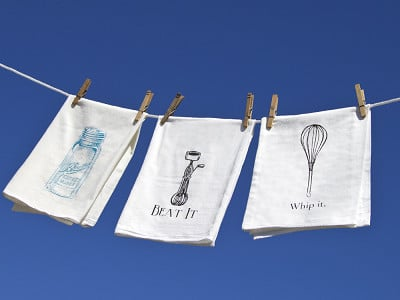 The Coin Laundry: Flour Sack Kitchen Towels - Set of 2