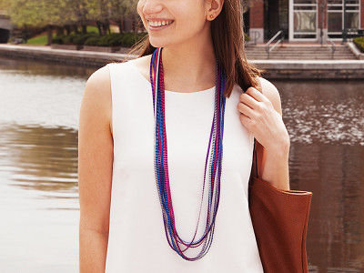 Minimum Design: Mutlicolor Pleated Necklace
