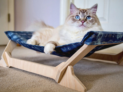 Peach Pet Provisions: Kitty Lounger - Solids