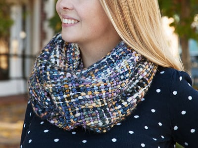 Rising Tide: Chunky Woven Infinity Scarf