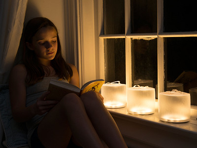 Luci Lux by MPOWERD: Inflatable Solar Lantern - Warm