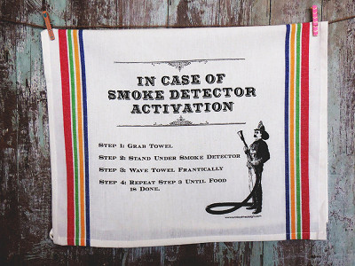 Sunday Drive Designs: Tea Towels - Smoke Detector