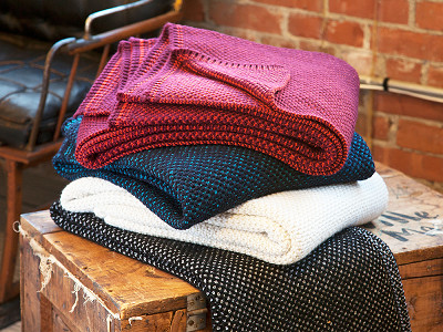 Farm2Fashion: Two Color Seedstitch Throws