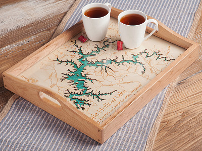 Lake Art: Custom Made Serving Tray