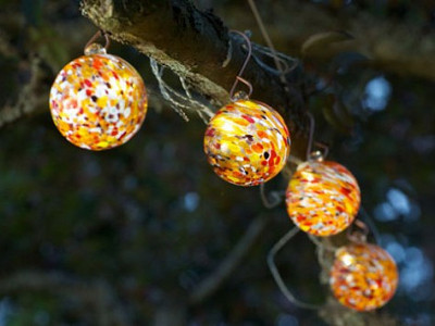Allsop Solar Lighting: Aurora Solar Glass String Lights