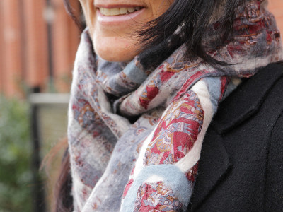 The Red Sari: Circle Scarf