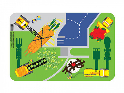 Constructive Eating: Construction Worksite Placemat