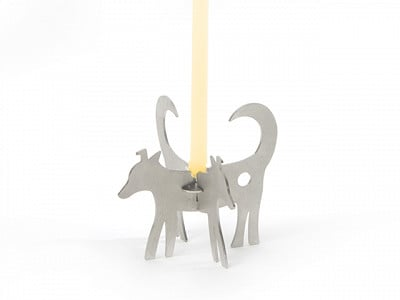 Lumanella: Small Dog Candle Holder