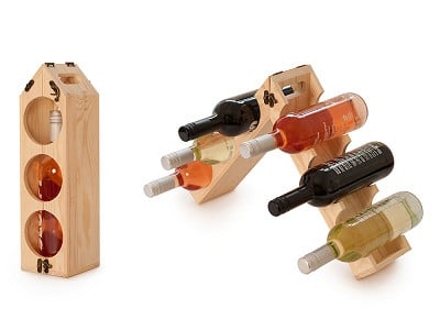 Rackpack: Wine Bottle Carrier & Rack