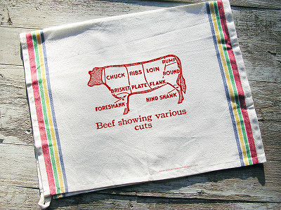 Sunday Drive Designs: Tea Towels - Choice Cuts of Beef