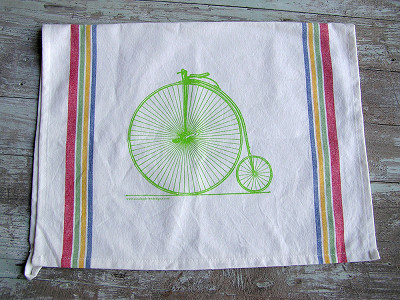 Sunday Drive Designs: Tea Towels - High Wheel Bike