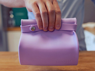 Compleat FoodBag: Silicone Lunch Bag