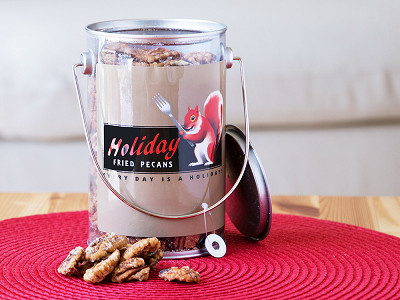 Holiday Fried Pecans: 16 oz. Pecan Gift Pail