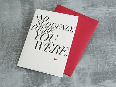 "Design With Heart: ""And Suddenly"" Greeting Card"