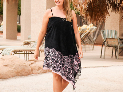 Simple Sarongs: Black Lace Sarong & Towel Cover Up