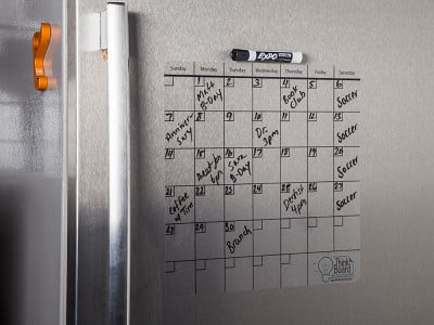 "Think Board: 14"" x 14"" Reusable Idea Calendar"