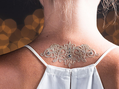 Black Lace: Skin Jewelry - Courageous