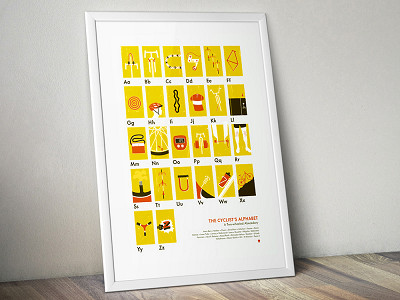 My Outdoor Alphabet: The Cyclist's Alphabet Poster