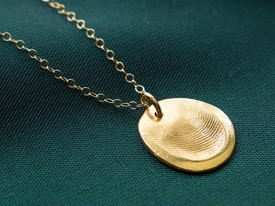 Precious Metal Prints: Fingerprint Pendant Necklace Kit