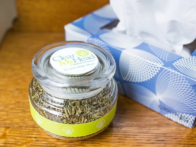 Clear My Head: Herbal Inhalation Jar