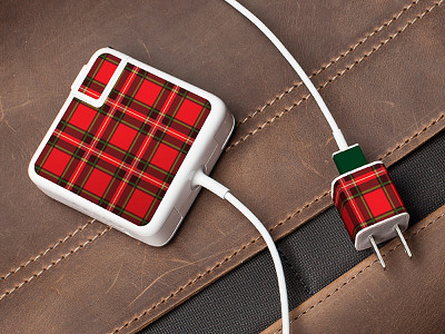 Meo: Plaid Charger Label