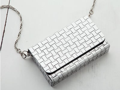 Wendell August: Madison Ave Woven Envelope Purse