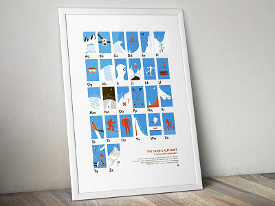 My Outdoor Alphabet: The Skier's Alphabet Poster