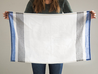 Kara Weaves: Bloc-Stripe Tea Towel - Set of 2