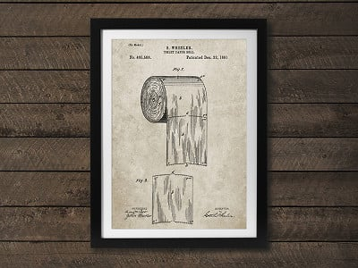 PatentPrints: Toilet Paper Patent