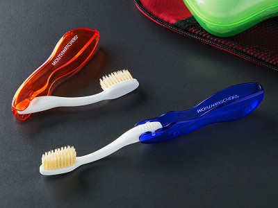 Mouth Watchers: Anti-Microbial Travel Toothbrushes