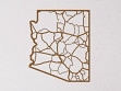 Oak State Map - Arizona