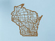 Oak State Map - Wisconsin