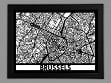 Laser Cut Maps - Brussels