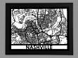 Laser Cut Maps - Nashville