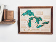 "14"" x 18"" Custom 3D Wood Map"