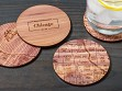 City Map Wooden Coasters