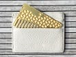 Brass Tile Mirror Wallet Comb