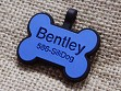 Silent Pet Tag - Blue Bone