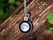 Custom Date Moon Phase Necklace - Simple Design