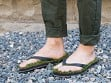 Synthetic Grass Sandals - Black