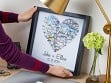 Personalized Map Heart Shadow Box