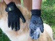 Grooved Pet Grooming Gloves
