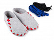 Felt Slippers with Interchangeable Laces - 36